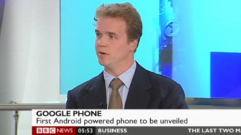 PMN's Marek Pawlowski covering Android for BBC News