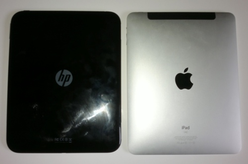 HP TouchPad versus iPad 1