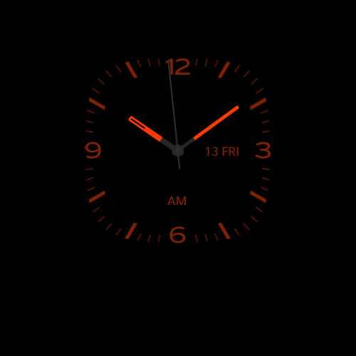 Night clock on Blackberry 10