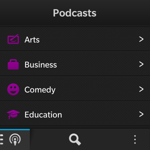 Nobex podcasting application on Blackberry 10