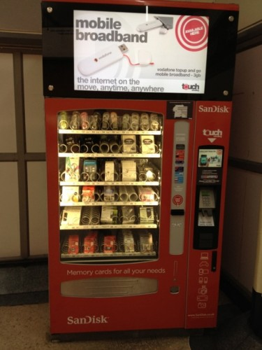 Mobile phone vending machine at London's Victoria Station