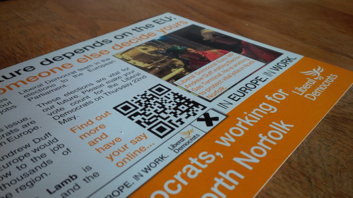 Broken call to action: the flyer with a QR code and nothing else