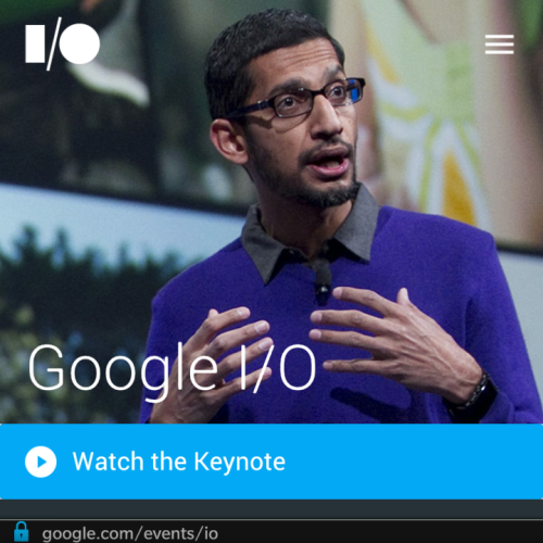 Google IO keynote livestreamed to the Blackberry 10 browser