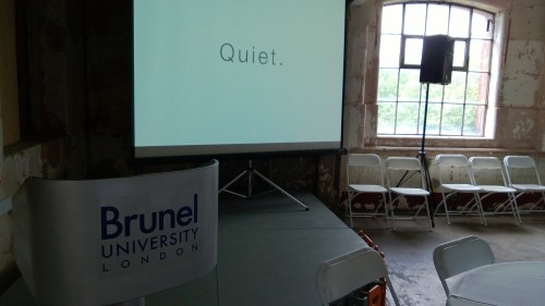 MEX quiet design workshop at Made in Brunel