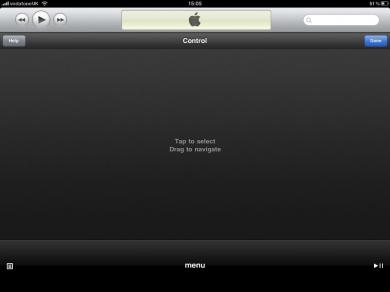 Apple TV iPad 'Control' mode
