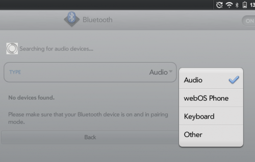 WebOS - pairing with another WebOS phone over Bluetooth