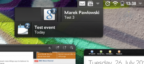 WebOS - clearing all notifications with a single swipe