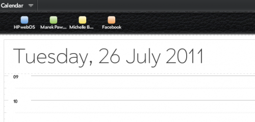 WebOS - multiple calendar managenent is simple