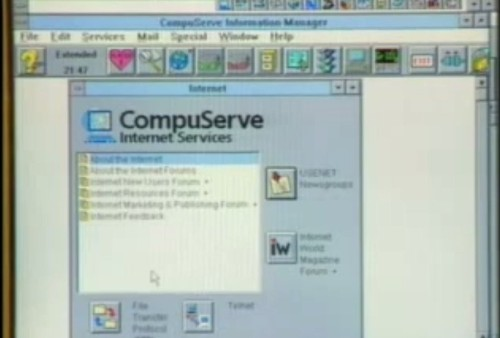 CompuServe on Windows 3.1, circa 1994 (Image credit: Business Insider)
