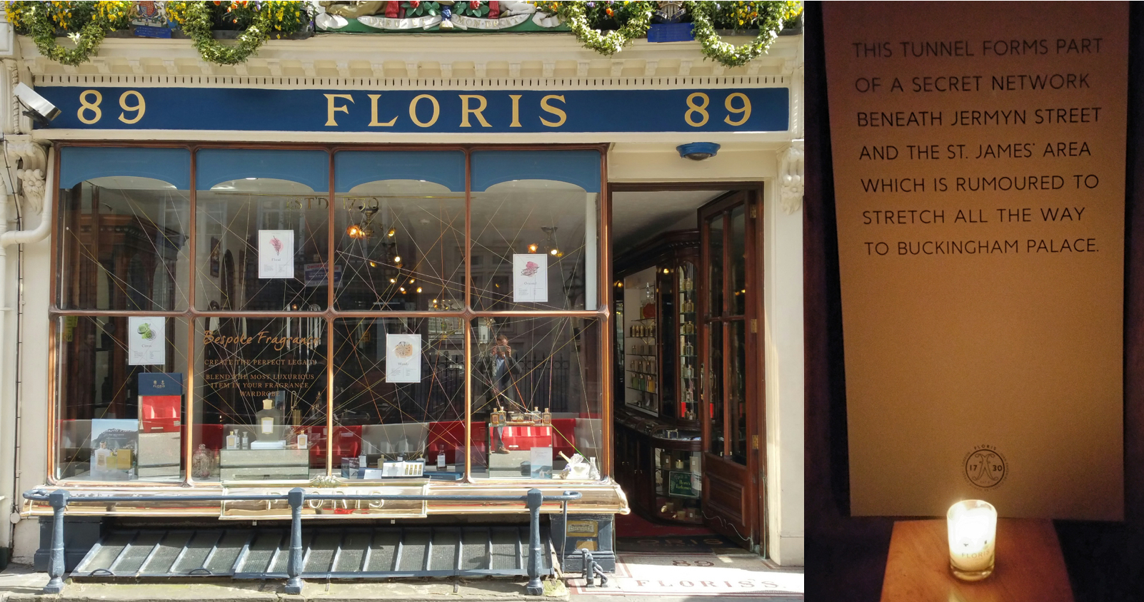Floris, the perfumer, in London
