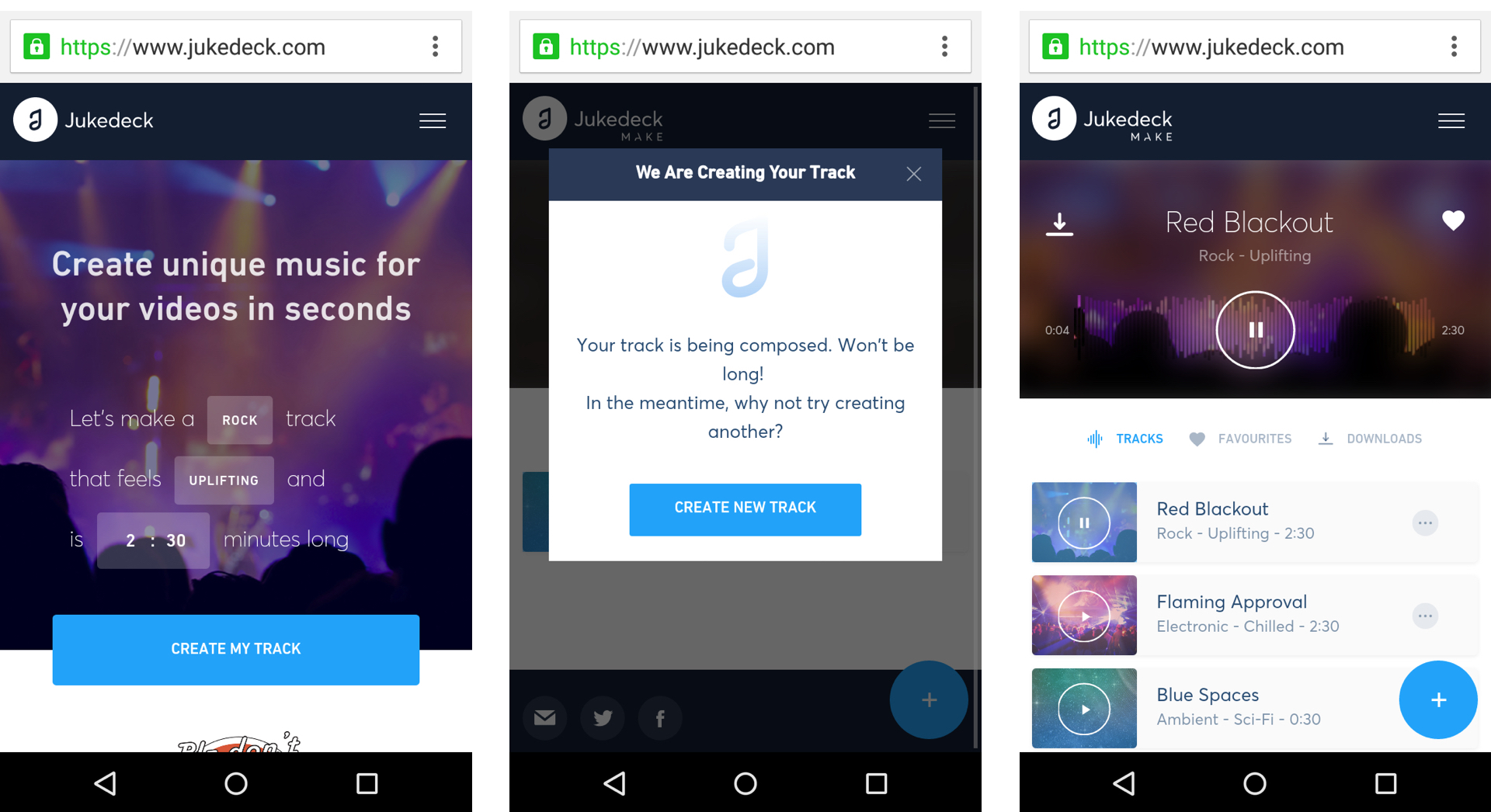 Personalised music in the browser from Jukedeck