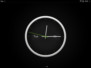 WebOS Exhibition clock mode