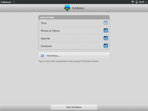 WebOS Exhibition mode preferences