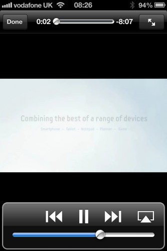 Samsung Galaxy Note II advertisement on Reuters. View an 8 minute video.