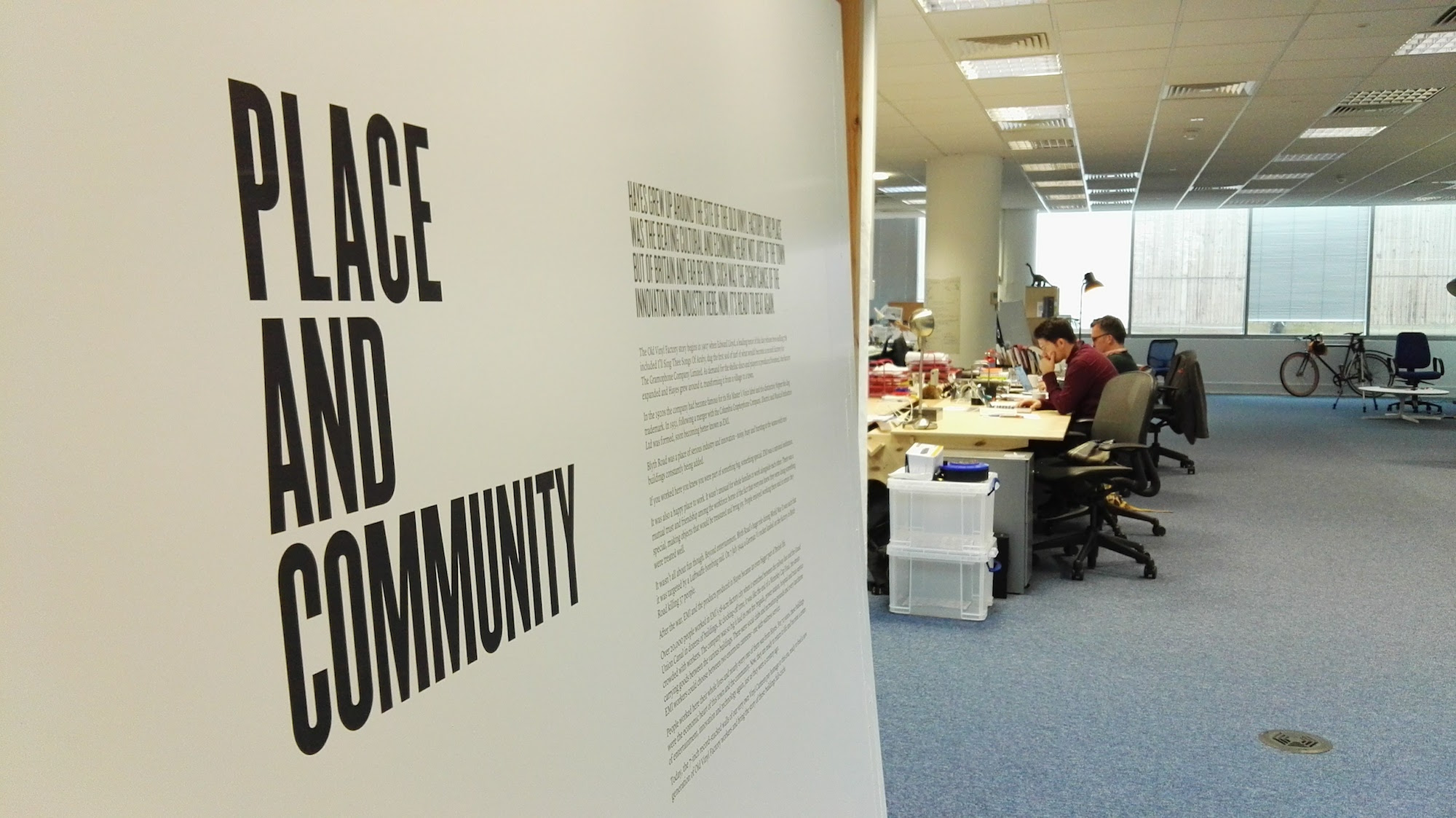 Place and community poster at the Central Research Laboratory