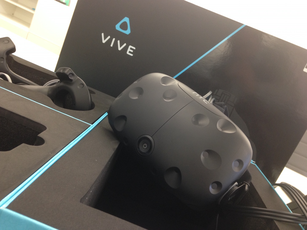 HTC Vive headset close-up