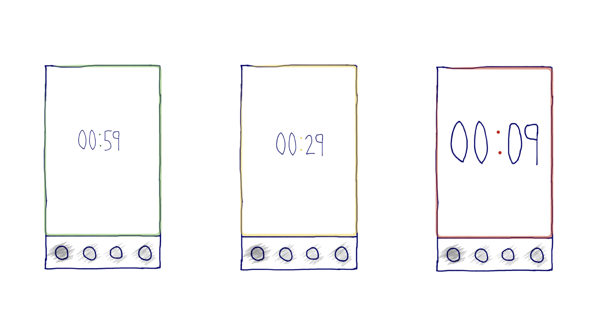 Ambient UI approach for a countdown timer