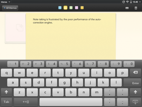 WebOS - poor auto-correct performance hampers software keyboard