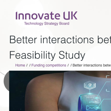 Funding for UX from Innovate UK