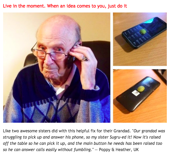 Grandad's phone fixed with Sugru