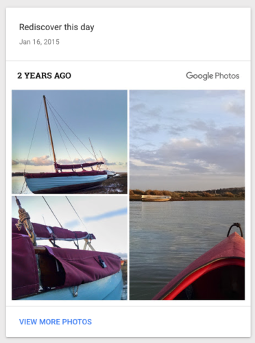 Google Photos' 'On this day' feature