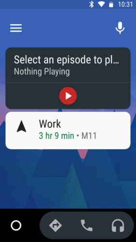 The simplified interface of Android Auto for distraction free driving