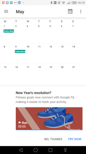 New Year's resolution - a question from Google Calendar