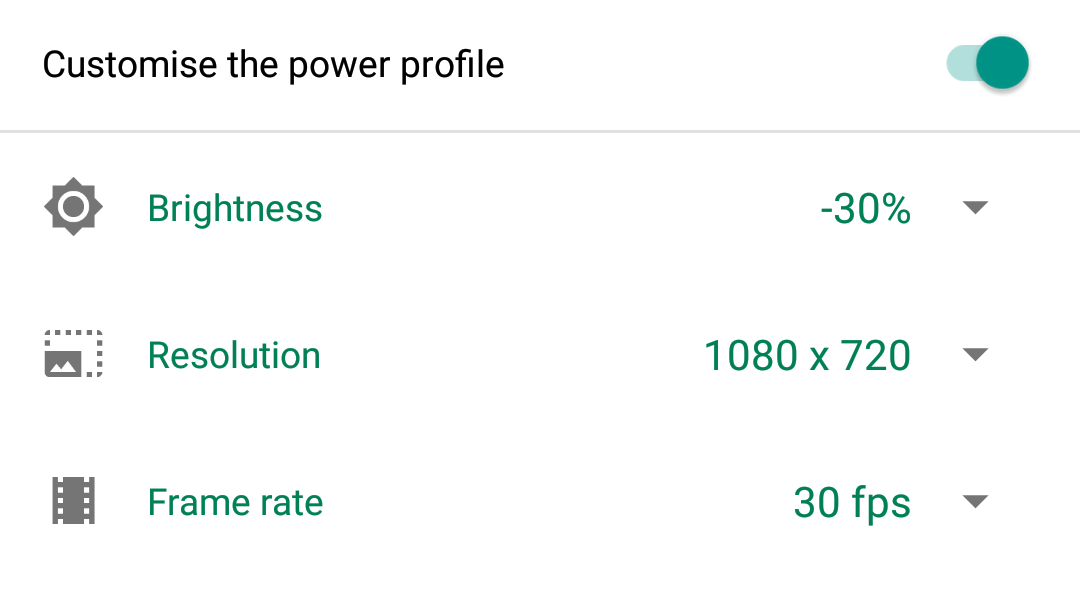 BlackBerry Power Centre app-by-app customisation