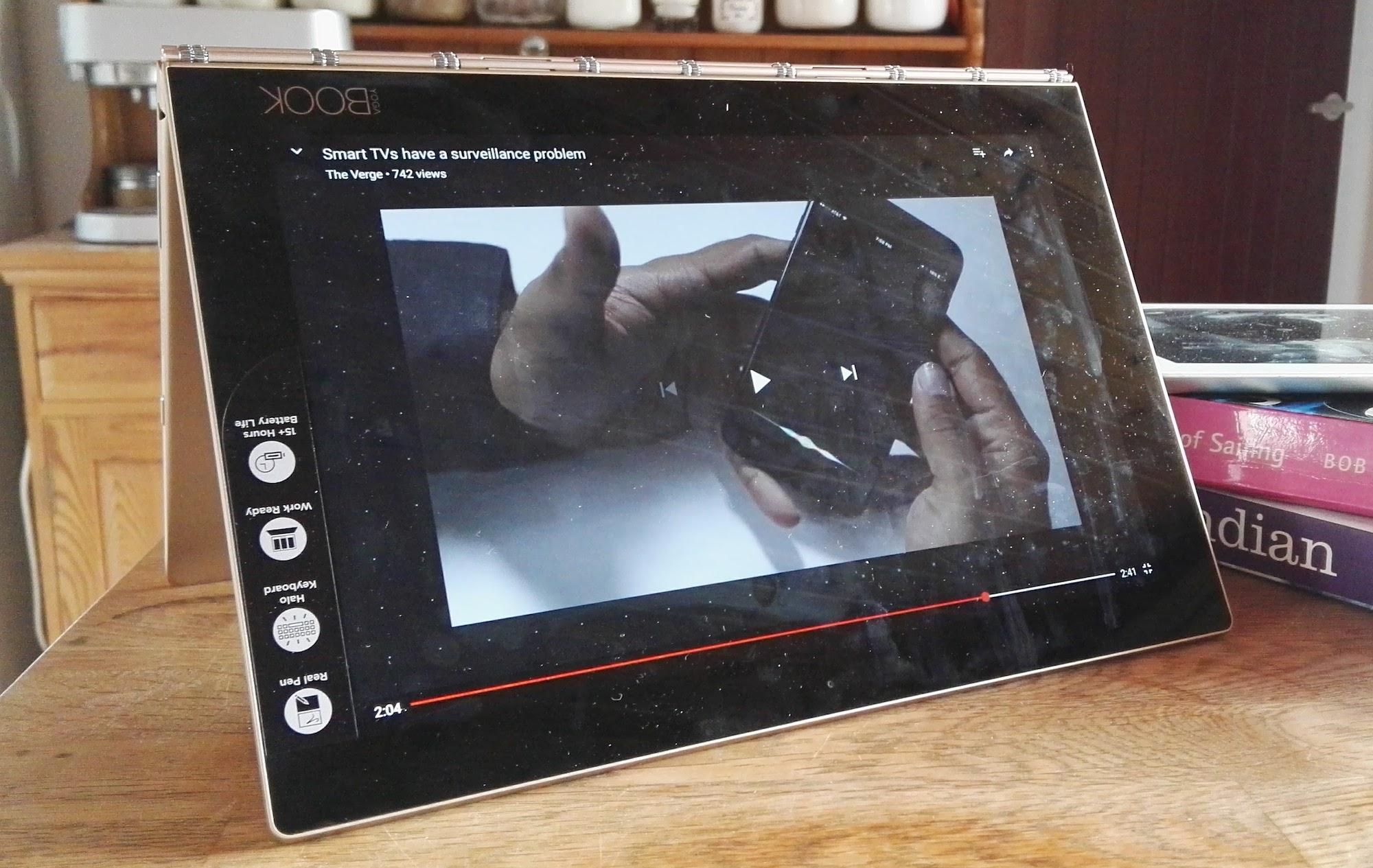 Lenovo Yoga Book in tent mode & Long-term review: Lenovou0027s Yoga Book a flexible enough tool for ...