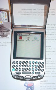 Treo 90 on a desk, front view
