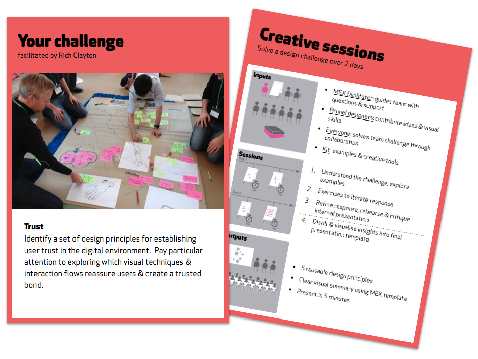 MEX/14 design challenge on UX principles for trusted digital experiences