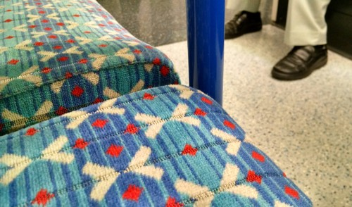 Victoria line seat on the London Underground