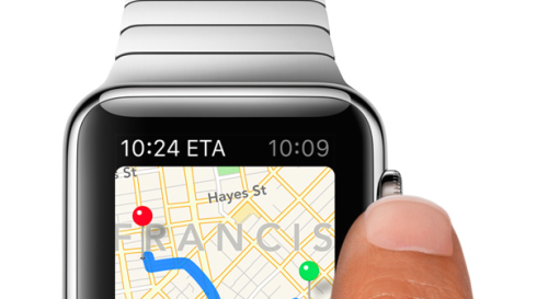 Magnified depth in Apple Watch UI